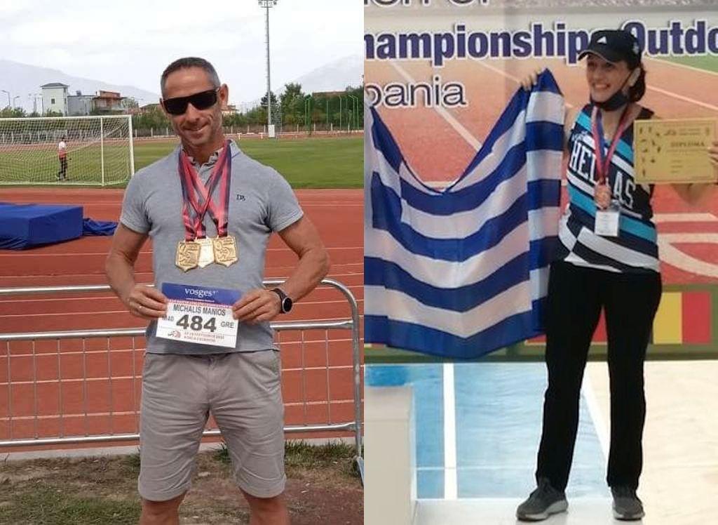 Μετάλλια και διακρίσεις για τον Μιχάλη Μανιό και την Μαρίνα Καρούση στους Βαλκανικούς Αγώνες